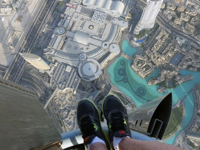 Фото на шпиле Дубайской Башни