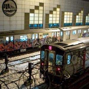 Граффити в метро Нью-Йорка