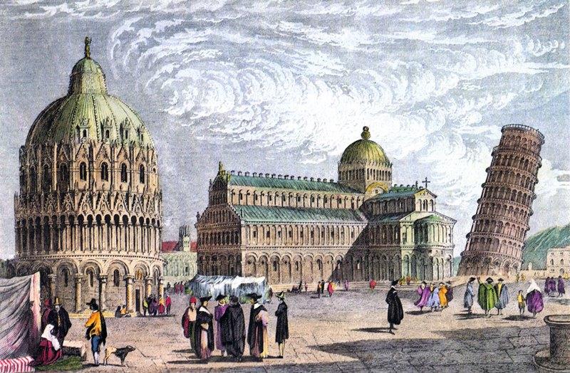 Картина Пизанской башни