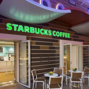 Starbucks на палубе