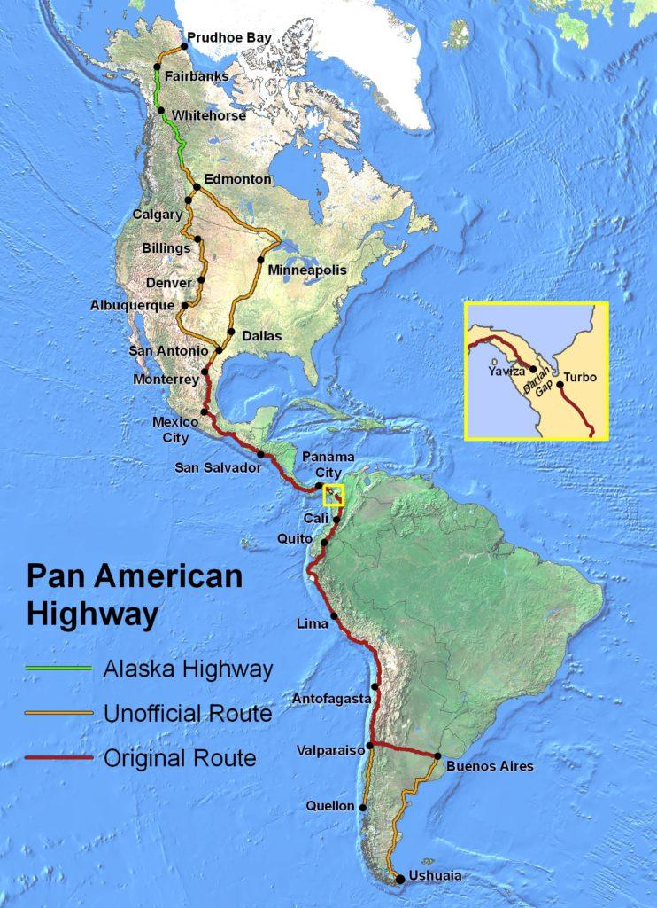 География Панамериканского шоссе