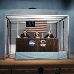 Пресс-конференция после возвращения с Луны