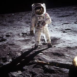 Олдрин на Луне