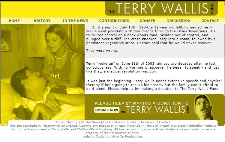 Скриншот с сайта Фонда Терри Уолиса
