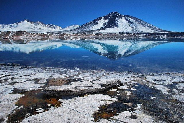 Пейзаж с самым большим вулканом